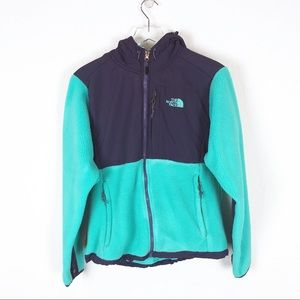 The North Face | blue zip up fleece jacket size s